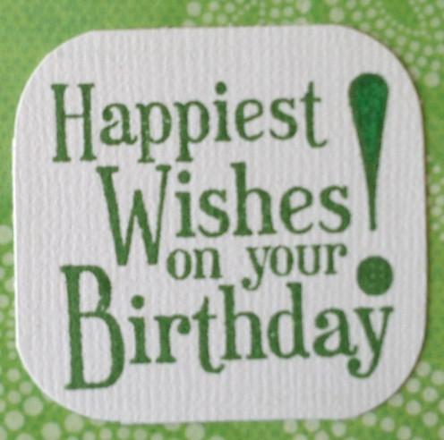 Stampin'Up Happy BIrthday acrylic stamp