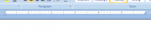 Most word processors have a ruler function that can be turned on or off.