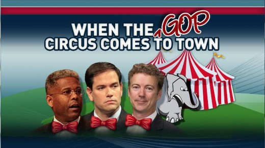Then just three members of the Tea (obstructionist) Party