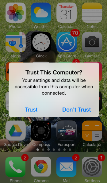 Trust ONLY your computer to safeguard information in your iPhone