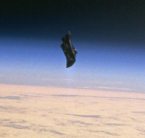 Black Knight is said to be this object circling over the earth. All photos on this page are from NASA mission STS-88 and can be found freely available on their website.