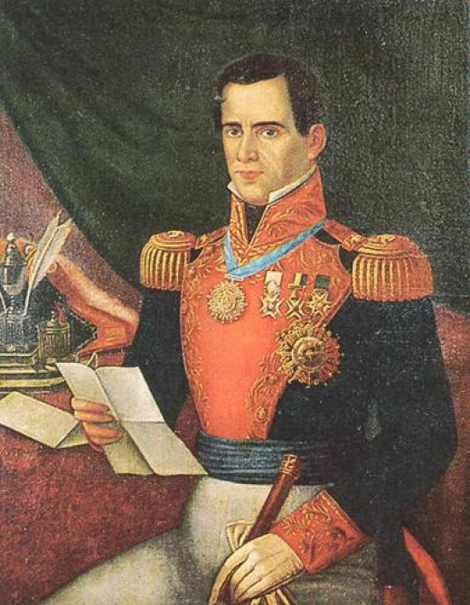 Antonio Lopez de Santa Anna was President of Mexico on no less than 11 occasions during the early years of its indepence.