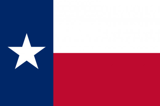The state flag of Texas, which first appeared in 1839 when the state was an independent republic.