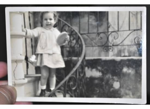 Isabel as a young child in Cuba