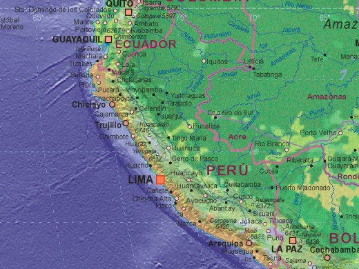 Vicos is near Huaraz, which is not far north of the capital, Lima.