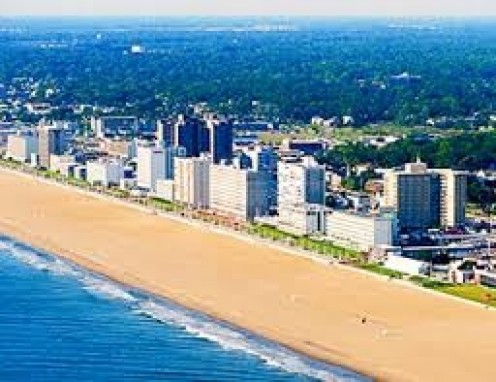 Virginia Beach has miles of white, sandy beaches and miles of ocean.