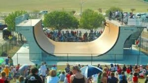 Mount Trashmore has many attractions including ramps for skateboarding.