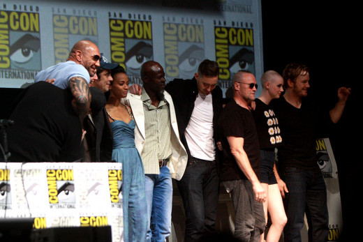 Guardians of the Galaxy cast at 2013 ComicCon