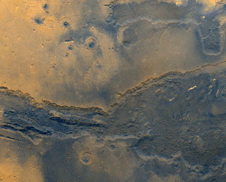 The rivers and flow lines scared into the surface of Mars are well known and documented.