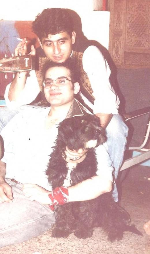 My Adorable Protective Dog Rasputin With Admirers