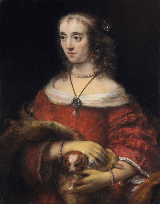 Rembrandt Harmensz van Rijn - Portrait of a Lady with a Lap Dog - Google Art Project