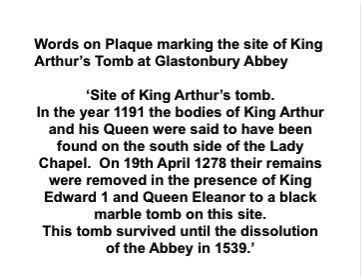 History of Arthur's Tomb