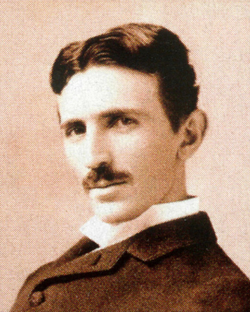 Nikolai Tesla:   (1856-1943) at age 34.