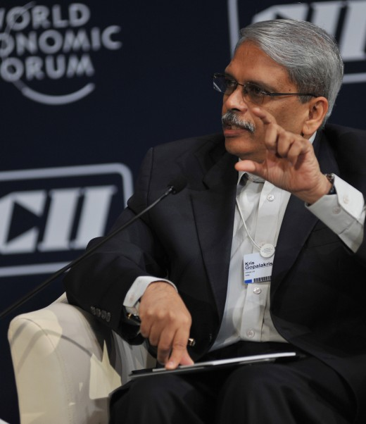 Kris Gopalakrishnan, Executive Co-Chairman, Infosys, India; Vice-President, Confederation of Indian Industry (CII), India; Global Agenda Council on Skills & Talent Mobility at the Green Growth in India: From Agenda to Action (Plenary Session) during