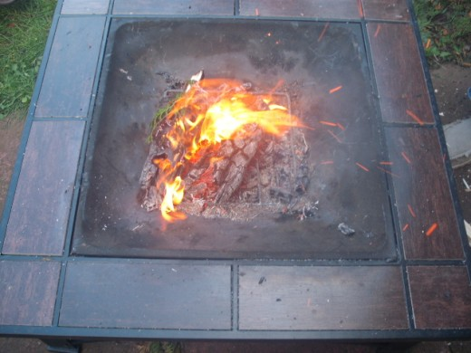 A lot of sites hire out firepits for your use.