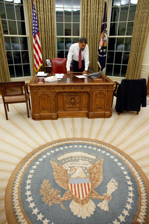 President Barack Obama in the Oval Office 1/30/09
