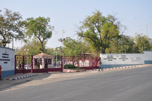 INDIAN SPACE RESEARCH CENTRE'S MAIN ENTRANCE
