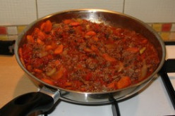 Preparing the homemade sauce  for the Lasagna that you are going to make.