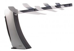 A small HDTV antenna like this model from Terk may be all you need to receive free TV!