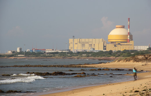Kudankulam Nuclear Power Plant in India generating electricity for the country