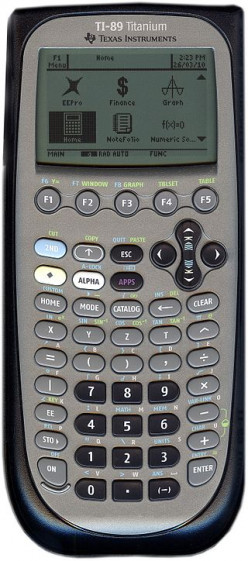 TI-89 calculator by Texas Instruments.