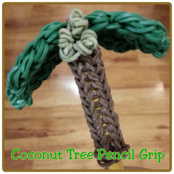 How to Make a Coconut Tree Pencil Grip Using the Rainbow Loom