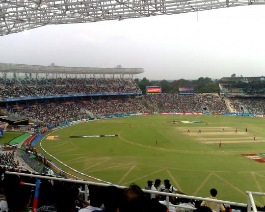 Eden gardens in Kolkata, West Bengal, India during IPL T20