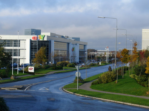 Ebay & Paypal European HQ The sign on the building is a dead give-away, but only tells part of the story. Located in a nondescript industrial park near Blanchardstown, this was the European HQ of eBay. In 2006 the web-based auction house moved 2 Kms