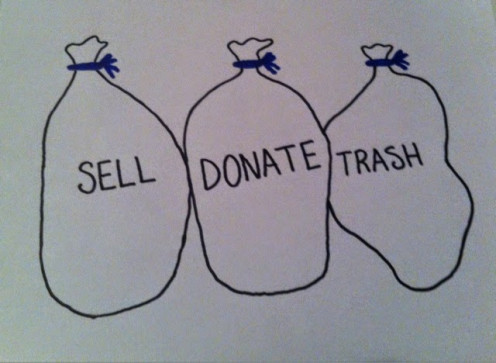 The best way to become a minimalist is to sell, donate, or trash unused items. Consider using baskets, bins, or bags.