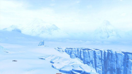 (2 of 2) Hoth the Ice planet. The snow swept plains stretching out forever