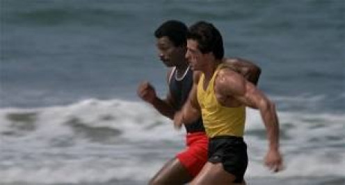 Rocky has Apollo Creed as his new trainer when he signs to fight Clubber Lang for their second bout.