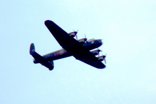 The Avro Lancaster Bomber Flying over Hamilton