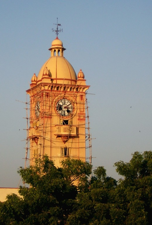Tower of the Poddar College in Nawalgarh, Jhunjhunu., Rajasthan