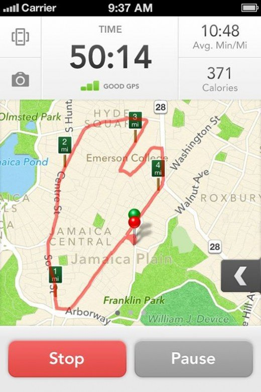 Runkeeper Screen Shot