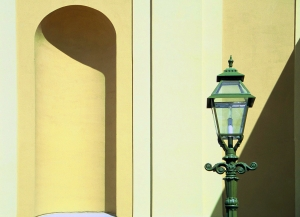 Lantern near a niche