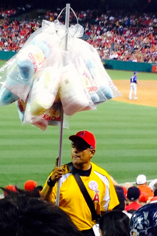 Delicious cotton candy at Angel Stadium