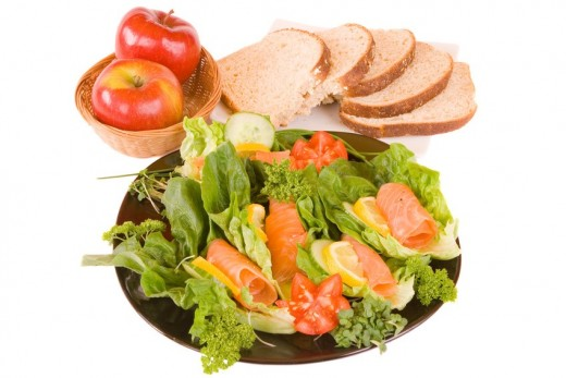 Don't ever starve yourself-- just eat healthy!