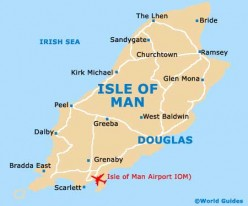 The Isle of Man today with Douglas as its capital city.