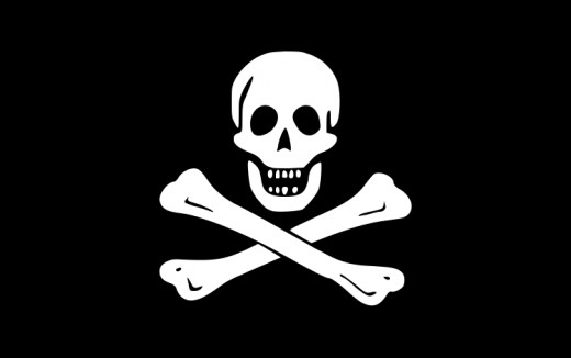 """The """"Jolly Roger"""" was a pirate flag flown by  """"Black Sam"""" Bellamy, Edward England, and John Taylor. Other pirates used a plain black flag. The object of such flags was to encourage the pirates' victims to surrender without a fight."""