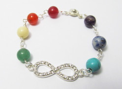 How to Make a Rainbow Chakra Infinity Bracelet
