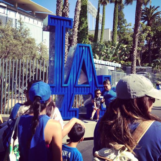 The big LA at Dodger Stadium