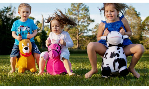Active play toys like bouncy animal can encourage your kids physical development!