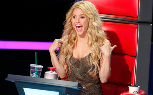 Shakira on 'The Voice'.
