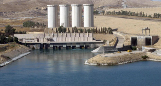 Mosul Dam in precarious condition, built in the 80's.