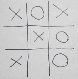 How To Play A New Game Tic-Tac-Toe On A Checkerboard