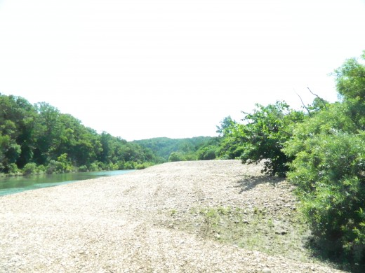 Looking downstream along Buffalo River