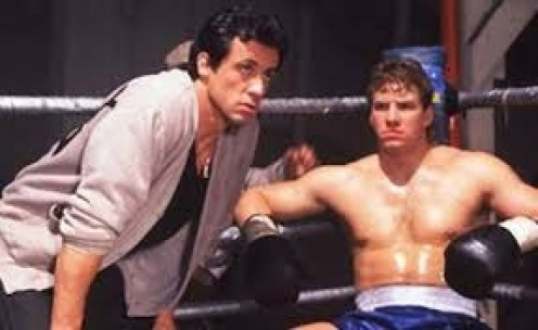 "Rocky began training Tommy ""The Machine"" Gunn for a run at the heavyweight crown in Rocky  5. The two got along well together in the beginning."