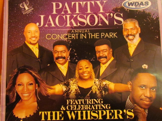 Patty Jackson of WDAS and Platinum Shows, featured The Whispers, Stephanie Mills and Freddie Jackson as part of their concert series at the Dell Music Center in Philadelphia, Pa.