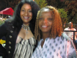 Such special guest as Mimi Brown, of WDAS,(on the left) was a part of this old school music celebration, along with me angelladywriter.