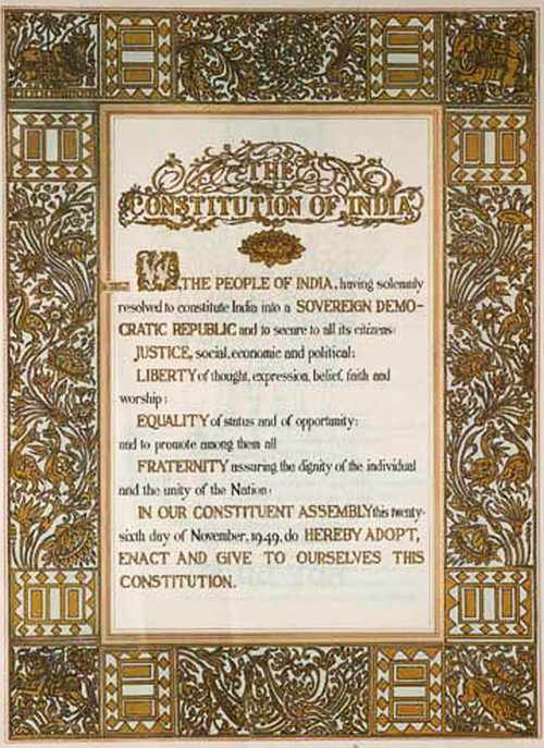 Preamble, The Constitution of India